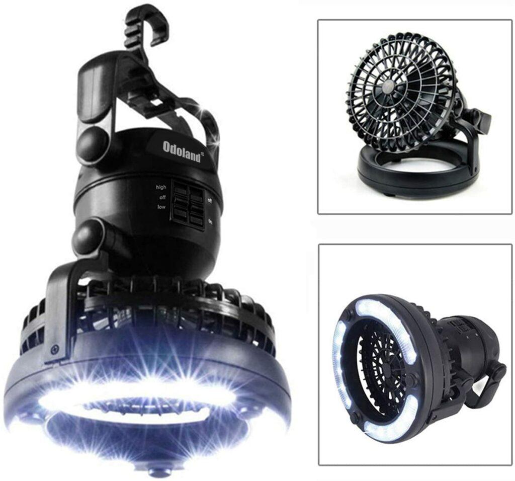 Odoland Portable LED Camping Lantern Ceiling Fan