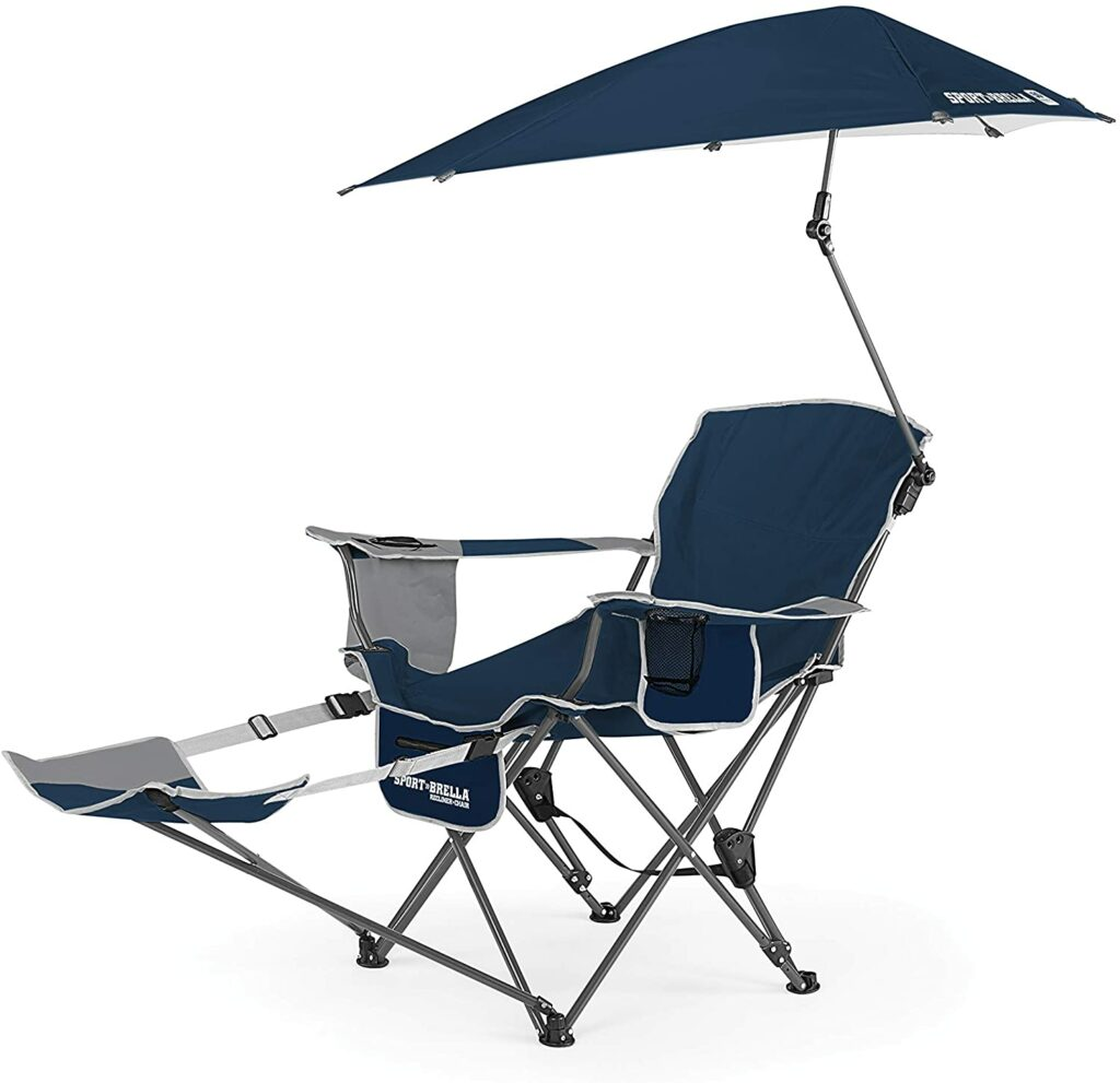 Sport-Brella Recliner Chair with Removable Umbrella and Footrest