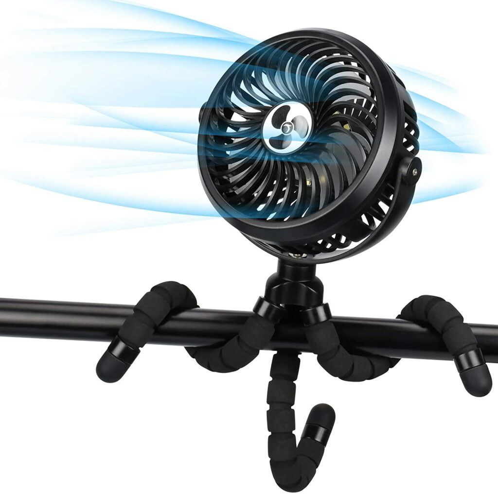TAECCL Battery Operated Fan with Flexible Tripod Legs