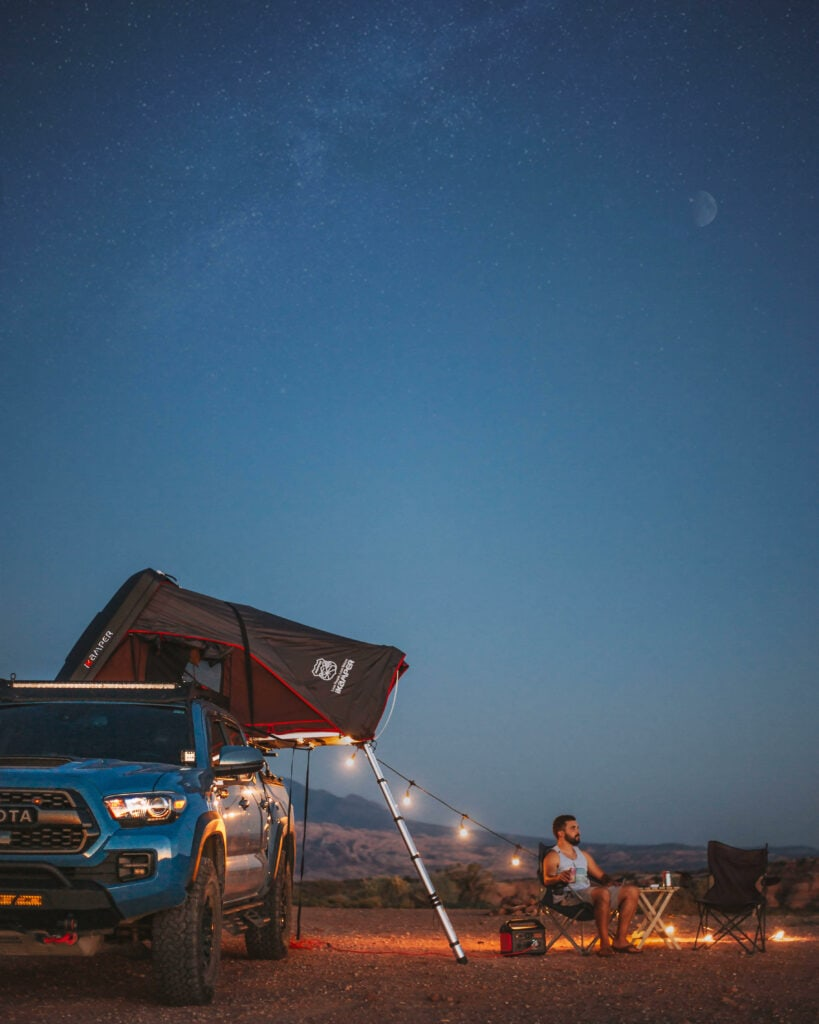 Toyota Tacoma Moab Overlanding Night Sky